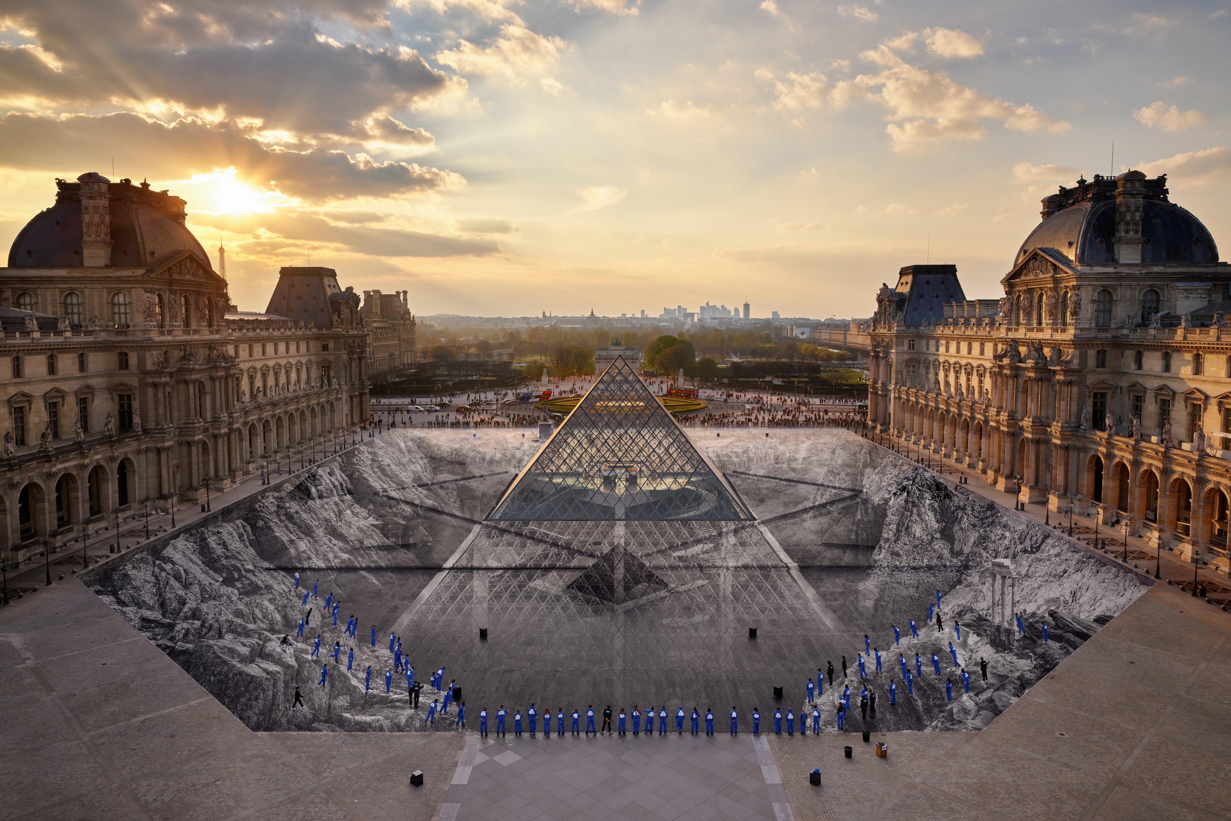 JR au Louvre FOTODRT